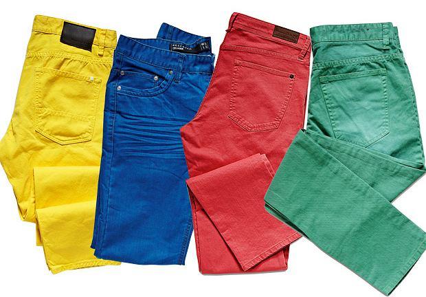 Kolorowe jeansy 2019