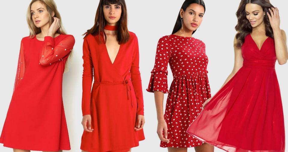 Czerwona sukienka na walentynki 2019