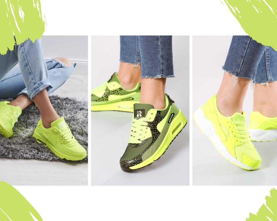 Neonowe buty sportowe