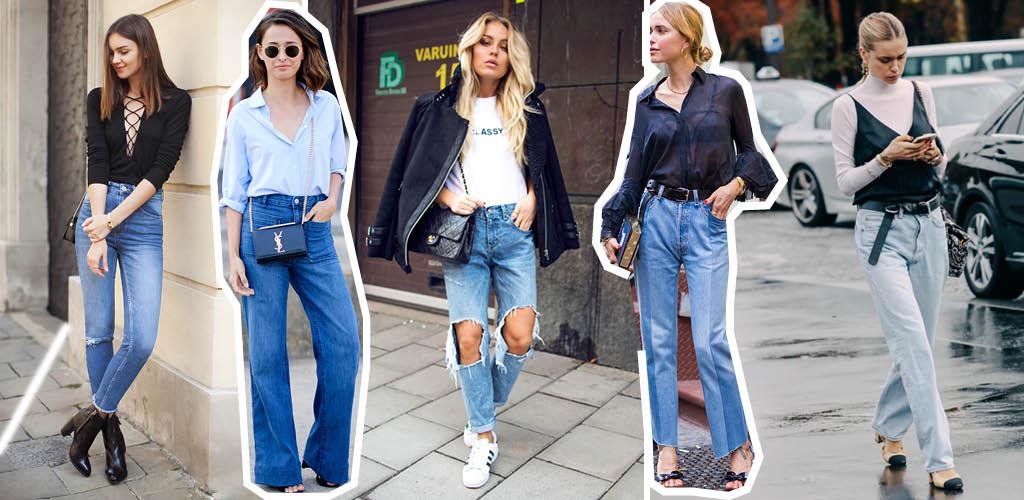 Spodnie jeansowe damskie stylizacje