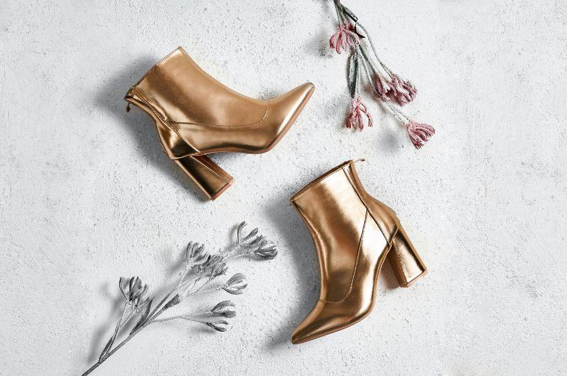 Jak i do czego nosić złote buty