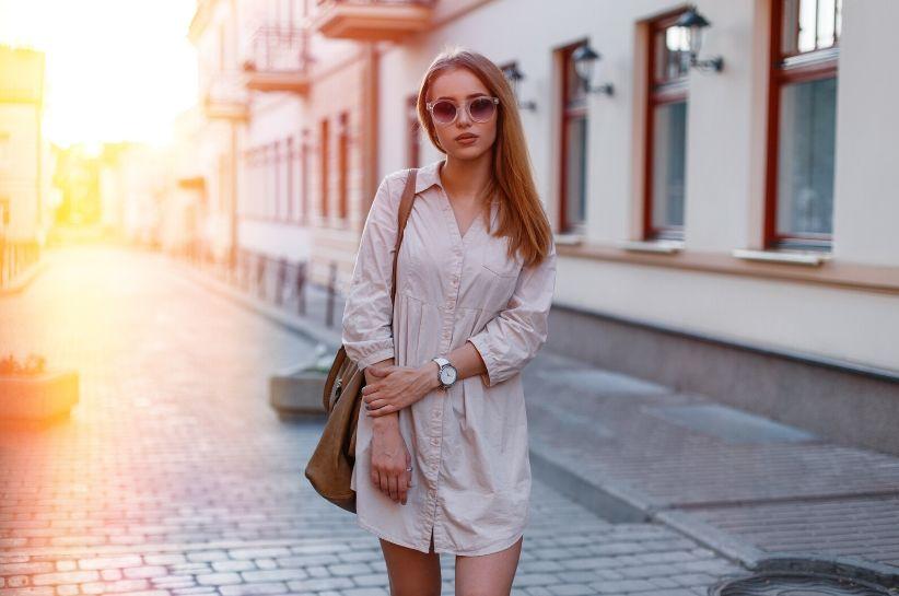 sukienka koszulowa stylizacje