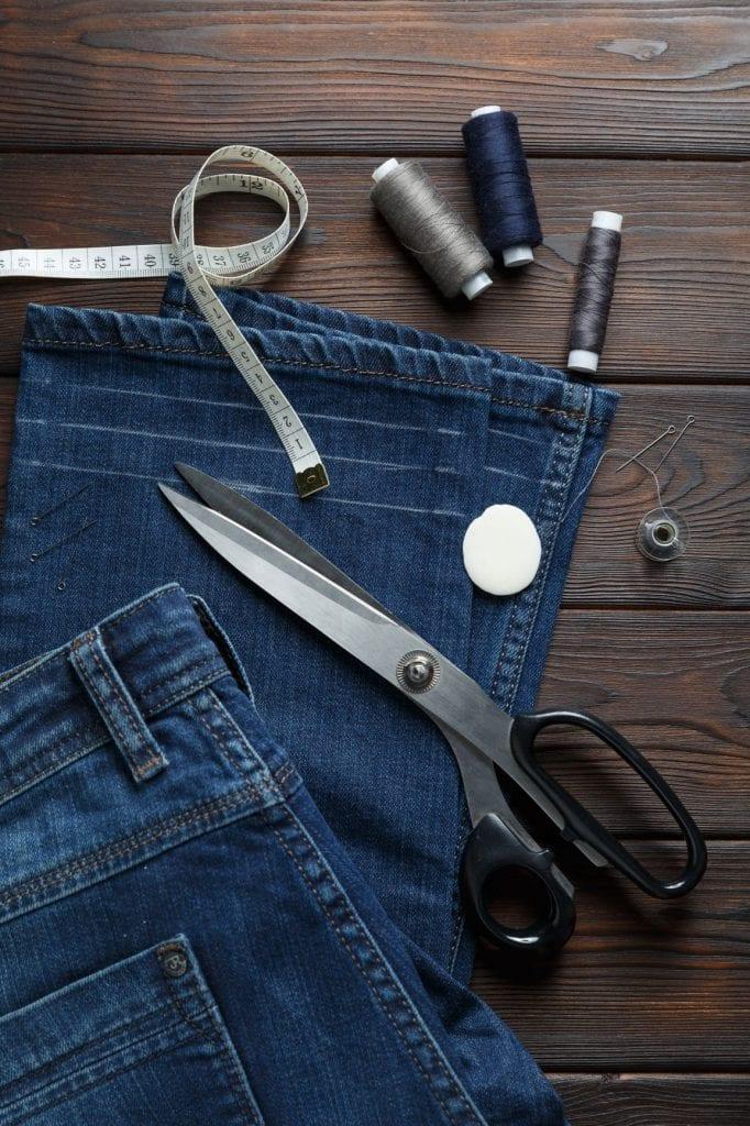 rozciąganie za małych spodni