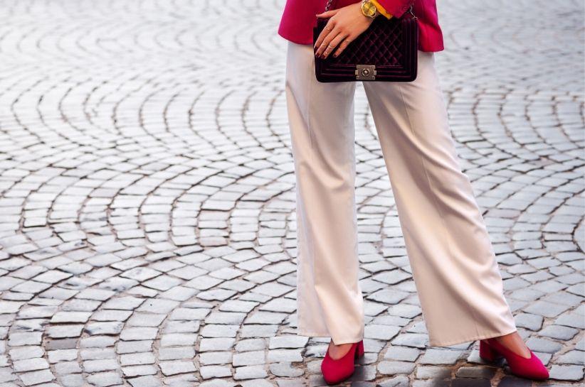 do czego nosić spodnie palazzo