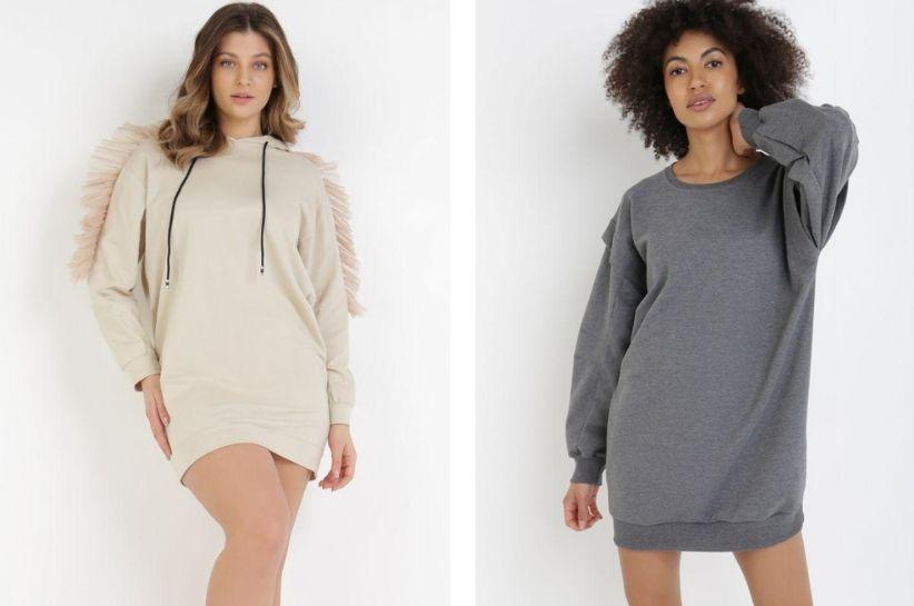 Sukienka bluza – stylizacje w sam raz dla fanek casualu