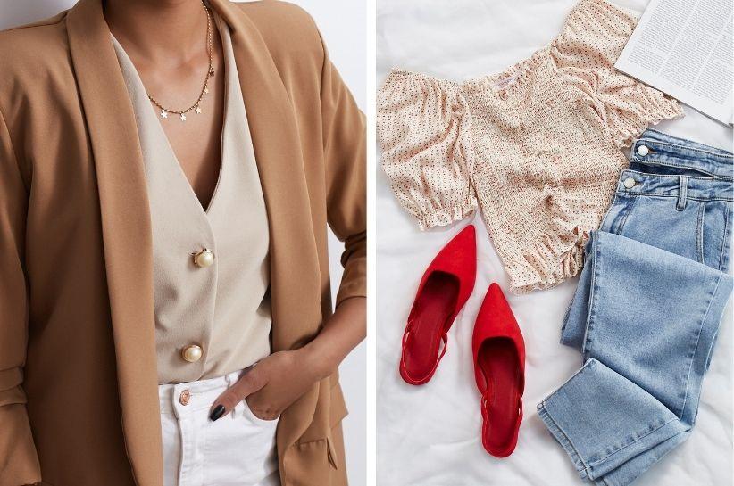 Stylizacje z beżową bluzką. Dowiedz się, jak ją modnie nosić!